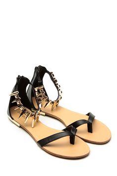 79e71de1ca82ea Black Ambra Metallic Ankle Sandals   Cicihot Sandals Shoes online store sale  Sandals