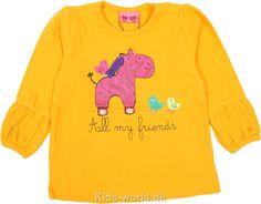 Me Too Bluse - Orange m. Pink zebra - Børnetøj med fri fragt.