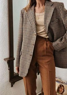 Outfit inspiration: burnt orange pants and plaid jacket. Outfit inspiration: burnt orange pants and plaid jacket. Outfit inspiration: burnt orange pants and plaid jacket. ,Outfits Outfit inspiration: burnt o. Fashion Mode, Look Fashion, Timeless Fashion, Trendy Fashion, Winter Fashion, Classy Fashion, Lifestyle Fashion, Woman Fashion, Street Fashion