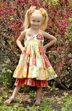 Tiffany's Sweetheart Patchwork Twirl Dress PDF Pattern