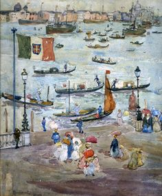 Maurice Prendergast (USA 1858-1924)Canal, Venice, ca. 1898–99watercolor and pencil on paper