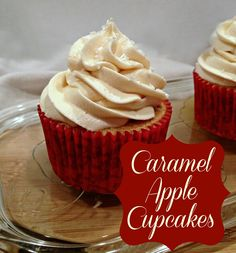 Apple Caramel Cupcakes - with filling!