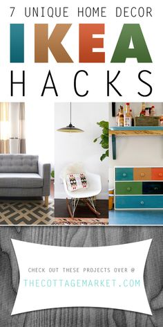 7 Unique Home Decor Ikea Hacks - The Cottage Market #IKEAHacks, #IKEA, #IKEANDIYProjects