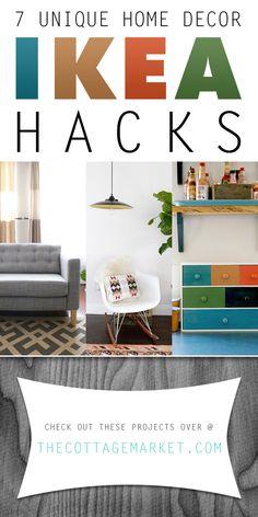 7 Unique Home Decor Ikea Hacks - The Cottage Market #IKEAHacks, #IKEA, #IKEANDIYProjects