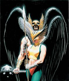 JSA Hawkman and Hawkgirl by Alex Ross- DC (Detective Comics) Comic Book Artists, Comic Book Heroes, Comic Artist, Comic Books Art, Alex Ross, Arte Dc Comics, Marvel Comics, Thor Marvel, Captain Marvel