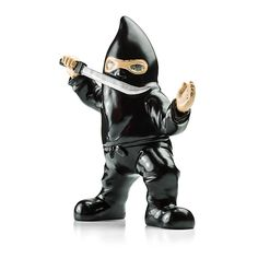 Let this Evil Ninja Garden Gnome defend your yard from intruders and the dark with his solar-powered glowing eyes.