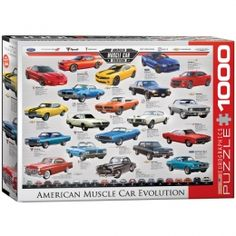 """""""American Muscle Car Evolution"""" Jigsaw Puzzle - PZ-009P"""
