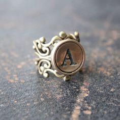 Custom Initial Ring via Etsy.