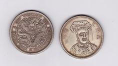 Распаковка посылки с аукциона Ebay.com 2 китайских псевдосеребрянных монеты