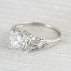1.95 Carat Art Deco Engagement Ring | Erstwhile Jewelry Co.