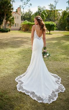 Lace Wedding Dress, Fit And Flare Wedding Dress, Sexy Wedding Dresses, Wedding Dress Shopping, Designer Wedding Dresses, Bridal Dresses, Casual Wedding, Sleek Wedding Dress, Pronovias Wedding Dress