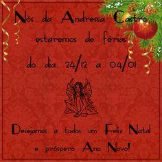 O ano está acabando e chegaram as merecidas férias, saímos no dia 24/12 e voltamos no dia 04/01 Desejamos a todos ótimas festas!  #Férias #fimdeano #anonovo #natal #AndressaCastro #ModaFeminina