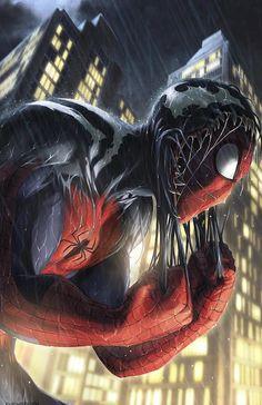 Spider-Man Pulling Off the Symbiote - 11 x 17 Digital Print