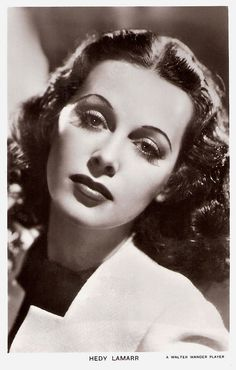 British postcard by Real Photograph in the Picturegoer series, London, no. 1208. Photo: Walter Wanger.  Glamorous and seductive film star Hedy Lamarr (1913–2000) was born in Austria. The notorious Czechoslovak film Ekstase/Ecstasy (1933) made her an international sensation, and MGM's mogul Louis Mayer invited her to Hollywood where she became 'the most beautiful woman in films'.   For more postcards, a bio and clips check out our blog European Film Star Postcards or follow us at Tumblr or…
