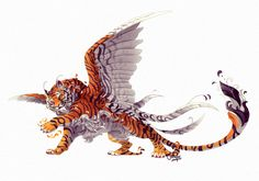 Clanheart: Kitsune Tiger by chutkat on DeviantArt Mystical Animals, Mythical Creatures Art, Mythological Creatures, Magical Creatures, Big Cats Art, Cat Art, Creature Concept Art, Creature Design, Creature Drawings