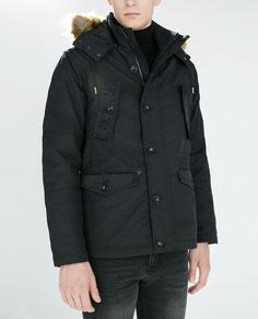 ZARA - PARKA WITH FAUX FUR HOOD