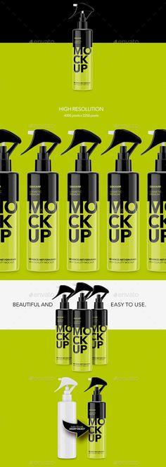 Plastic Cosmetic Pump Bottle MockUp