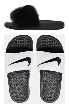 reputable site 7b248 19518 Image 3 of Nike Benassi White   Black Slider Sandals