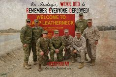 Are you ready to WEAR RED? & EVERY day, but on Fridays wear red to R.emember E.veryone D. Marine Corps photo by Lance Cpl. Once A Marine, Marine Mom, Us Marine Corps, Military Spouse, Military Life, Usmc, Marines, Operation Gratitude, Remember Everyone Deployed