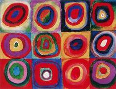 größeres Bild im neuen Fenster. Wassily Kandinsky, Farbstudien, Quadrate mit konzentrischen Ringen, 1913, Acquarall, Gouache und schwarze Kr...
