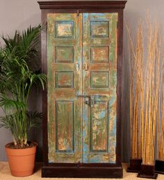 Green Vintage Door Cabinet from Hammer & Hand. They have awesome goods!