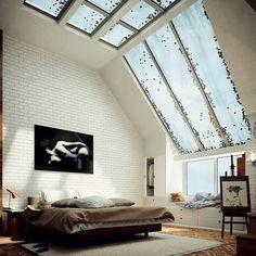 Fantastiska fönster i penthouse
