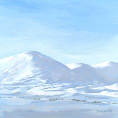Snow Pillows, Dalwhinnie Mount Rainier, Mountains, Nature, Snow, Paintings, Travel, Pillows, Voyage, Paint
