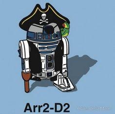 ARRRRRRR2-D2. #lol #StarWars #cartoon
