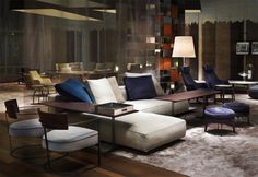 Flexform, made in Italy: Grandemare sofa, Morgan armchairs, Fly console &…