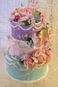 Spring Faux Cake Box