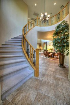 Would LOVE this staircase with wood flooring instead of carpet