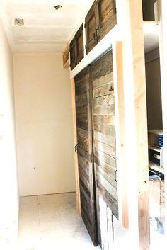 these are Fabulous! diy barn-style sliding doors oooooh for my bookshelves!