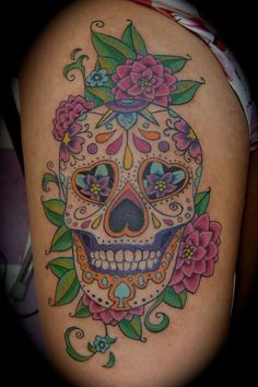 cute-sugar-skull-tattoos-55c94efad666c.jpg (1024×1536)
