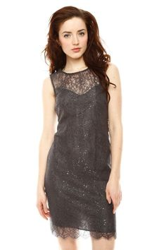 Metallic Lace Dress.