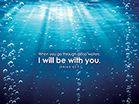 Isaiah 43:2 Bakgrund med Bibelverser