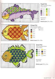 cross stitch - kanaviçe - etamin - çarpı işi - punto cruz - ponto cruz - kreuzstich - fish - balık