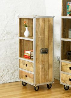 Roadie Chic Low Bookcase with drawers #lounge #livingroom #interior #bohointerior #bohemianhome #bohemian #homedecor #storage #bookcase #books #furniture #woodfurniture #homeinspiration