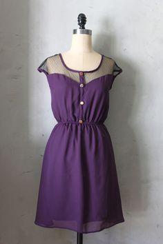 m // petit dejeuner in aubergine - vintage inspired eggplant purple dress - $48.00