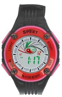 LED Digital Watch with Calendar, 30m Water Resistance Red Women. Item No. : 55560 Price : $4.99 Category : Sport Watches.