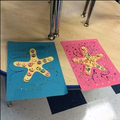 Finished starfish frame pictures.