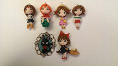 Lotto 6 personaggi Studio Ghibli di Julygia su Etsy