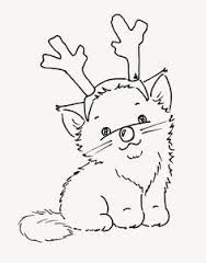 image result for christmas cats colouring