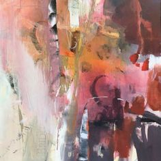 """Where ART Lives Gallery Artists Group Blog: Contemporary Abstract Art Painting """"GETTING WARMER"""" by Intuitive Artist Joan Fullerton"""