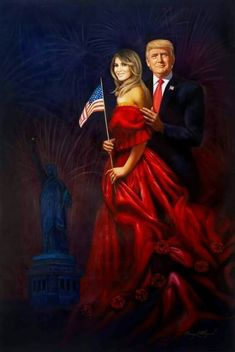 Our President, (Donald J. Trump) and our First Lady (Melania Trump) Original Size is Oil on Canvas I Love Donald Trump, Trump Love, Donald And Melania Trump, John Trump, Trump Is My President, First Lady Melania Trump, Malania Trump, Trump Train, Trump Wins