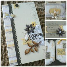 Kit Atelier Multi Albums de Juillet 2015 - Kits Variations Créatives Addicts Mini Albums Scrapbook, Scrapbook Cards, Handmade Books, Book Making, Mini Books, Flower Cards, Book Art, Kit, Christmas Cards