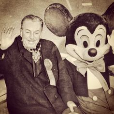 Mickey Mouse and his creator Walt Disney.