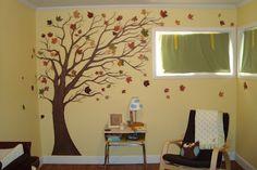 DIY nursery tree with real leaves