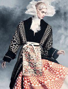 Vanessa Moody by Iango Henzi + Luigi Murenu for Vogue Germany April 2015