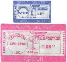 special delivery postage design from SewTerrific Designs