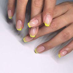 19 neon nail designs that shine brighter than your future 19 neon nail . - 19 neon nail designs that shine brighter than your future 19 neon nail designs that shine - Neon Nails, Cute Acrylic Nails, Tip Nails, Bio Gel Nails, Pastel Nail Art, Neon Nail Art, Matte Nails, Nail Tips, Glitter Nails